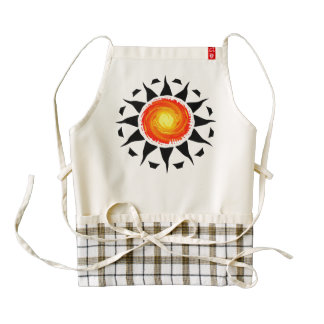 Tribal Sun Zazzle HEART Apron