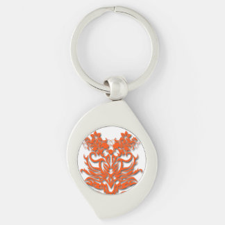 Tribal symbol 17b keychain