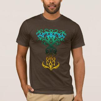 Tribal symbol 18 yellow,aqua (tree of life) T-Shirt