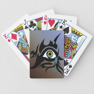 Tribal symbol with iris bicycle playing cards