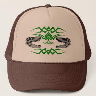 Tribal T-Rex Skulls green Trucker Hat