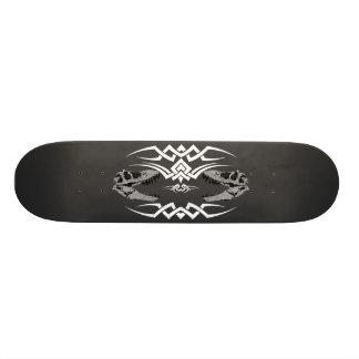 Tribal T-Rex Skulls white Skateboard Deck