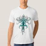 Tribal Tattoo Alien Species 217 blue T Shirt