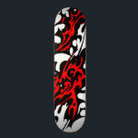 "Tribal Tattoo Blades (red and black) Skateboard<br><div class=""desc"">Tribal Tattoo Blades (red and black) skateboard deck by Travis L. Lagasse and Flowstone Graphics.</div>"