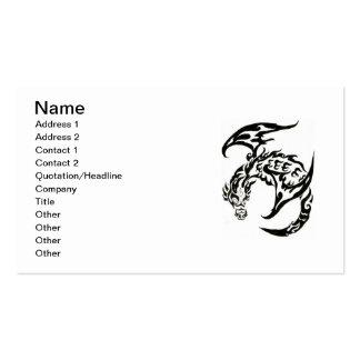 Tribal tattoo business card