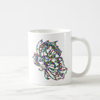 Tribal Tattoo Butterfly Seahorse Classic White Coffee Mug