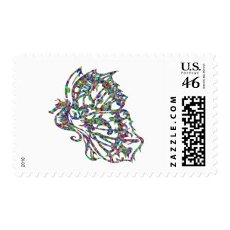 Tribal Tattoo Butterfly Seahorse Postage Stamp