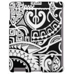 Tribal tattoo case with Polynesian patterns