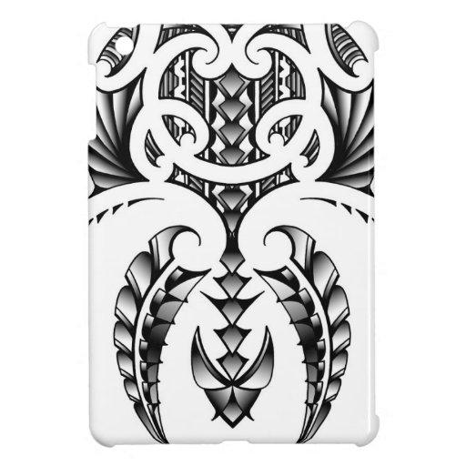 Tribal tattoo design in maori samoan style case for the ipad mini