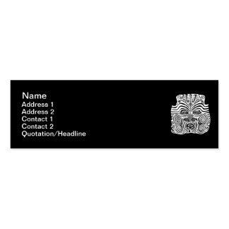 Tribal Tattoo Design - New Zealand Maori Double-Sided Mini Business Cards (Pack Of 20)