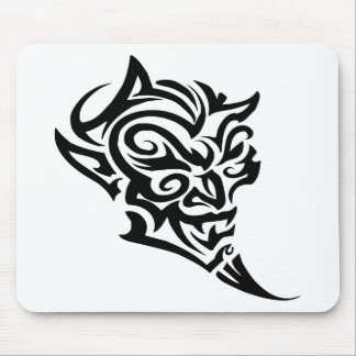 Tribal Tattoo Devil Face Satan Mouse Mats