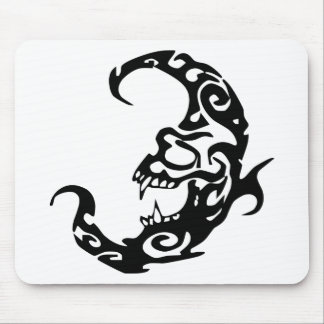 Tribal Tattoo Evil Moon Mouse Pad