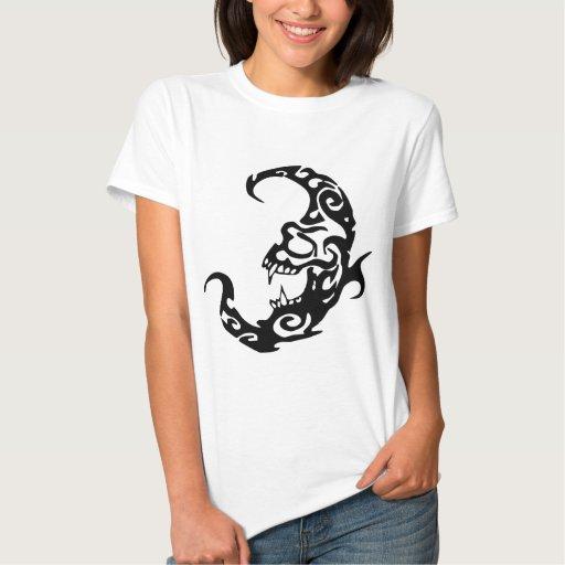 Tribal tattoo evil moon shirt zazzle for Tribal tattoo shirt