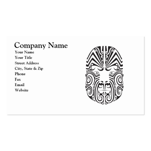 Tribal tattoo face business card zazzle for Business card size tattoos