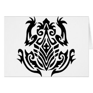 Tribal Tattoo Frog Cards