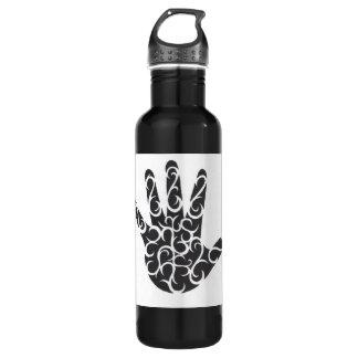 Tribal Tattoo Hand 24oz Water Bottle