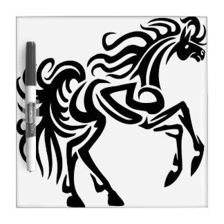 Tribal tattoo horse design dry erase board