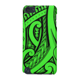 Tribal tattoo in Maori style and Polynesian shapes iPod Touch 5G Cases