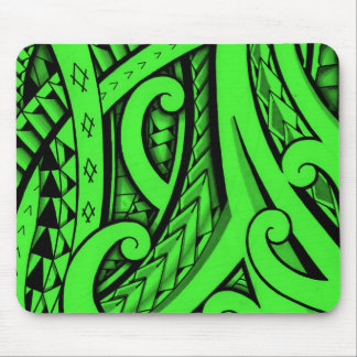 Tribal tattoo in Maori style and Polynesian shapes Mouse Pad