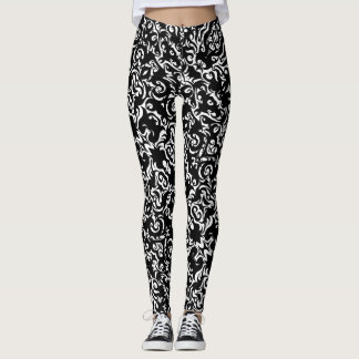 Tribal Tattoo Ink Doodle Yoga Pants Running