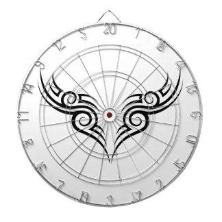 tribal tattoo motive dart board