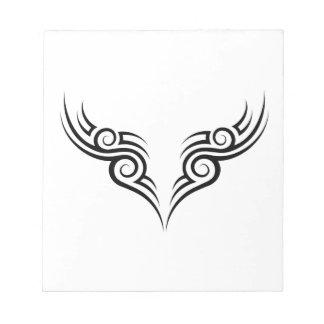 tribal tattoo motive notepad