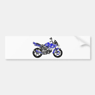 Tribal Tattoo Motorcycle Bumper Stickers