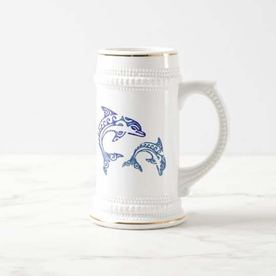 Tribal Tattoo Porpoise Duo Beer Stein