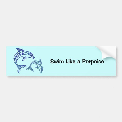 Tribal Tattoo Porpoise Duo Bumper Stickers