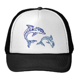 Tribal Tattoo Porpoise Duo Trucker Hats