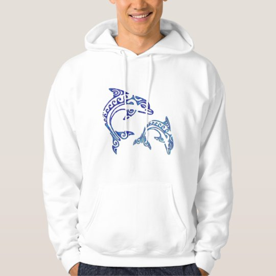 Tribal Tattoo Porpoise Duo Hoodie