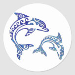 Tribal Tattoo Porpoise Duo Sticker
