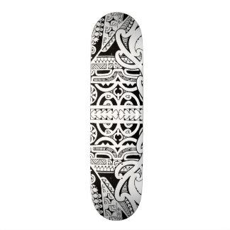 Tribal tattoo skateboard deck in Marquesas style