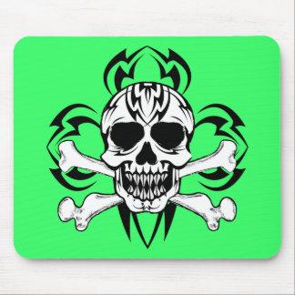 Tribal Tattoo Skull Mouse Pad