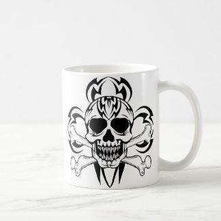 Tribal Tattoo Skull, Tribal Tattoo Skull Classic White Coffee Mug