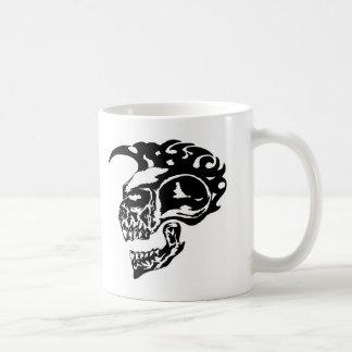 Tribal Tattoo Skull w/ Mohawk Coffee Mug
