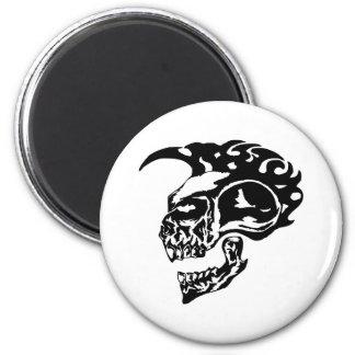 Tribal Tattoo Skull w/ Mohawk Magnet