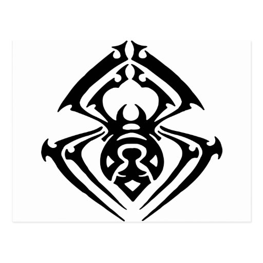 Tribal Tattoo Spider Post Cards