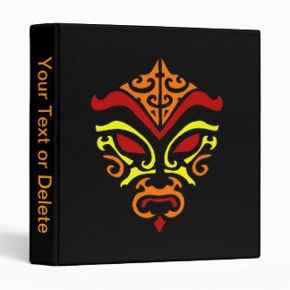 Tribal Tattoo Style Fiery Demonic Kabuki Mask Binder