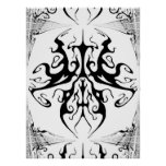 Tribal Tattoo Surreal Butterfly Print
