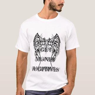 tribal_tattoos_of_angel_wings, GET MONEY FUGITIVES T-Shirt