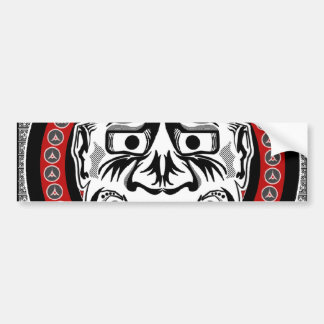 Tribal Tattoos With Image Mask Tribal Design Bumper Sticker