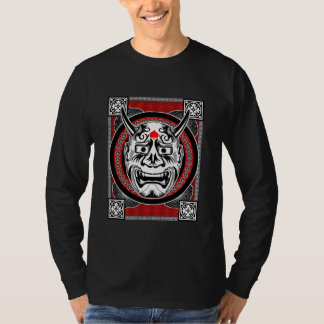 Tribal Tattoos With Image Mask Tribal Design T-Shirt