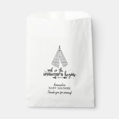 Tribal Teepee Baby Shower Favor Bags