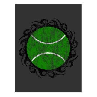 tribal tennis. postcard