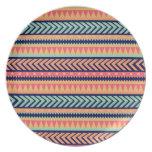 Tribal Texture Stripes Dinner Plate