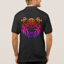 Tribal Tiger Black Polo Shirt