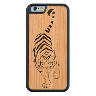 Tribal Tiger Carved® Cherry iPhone 6 Bumper Case