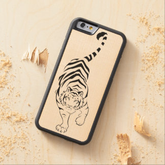 Tribal Tiger Carved® Maple iPhone 6 Bumper