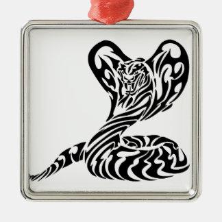 Tribal Tiger Head Cobra.png Christmas Ornaments